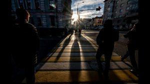 Sol de invierno en Moscú