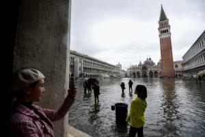 Fuga de turistas en Venecia por temor a las inundaciones