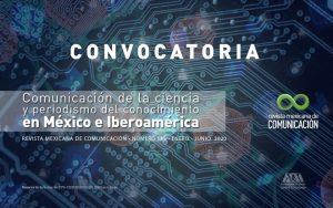 La RMC invita a participar en la revista No. 145: Comunicación de la ciencia y periodismo del conocimiento en México e Iberoamérica.